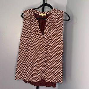 Loft geo floral sleeveless blouse